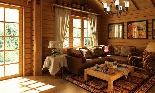 Дизайн окон в деревянном доме фото